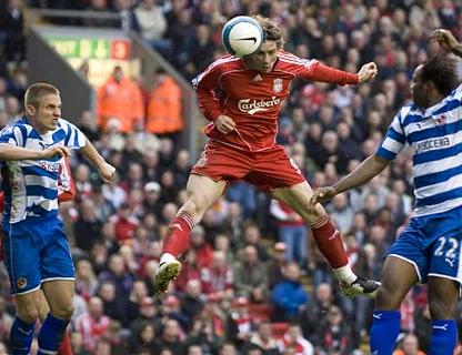 Torres of Liverpool against Reading